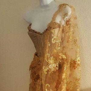 f0d996612e Sebrina Love / Sebrina Love Bridals Dresses - Gold Lace Corset Lehenga  Saree Sari Wedding Set